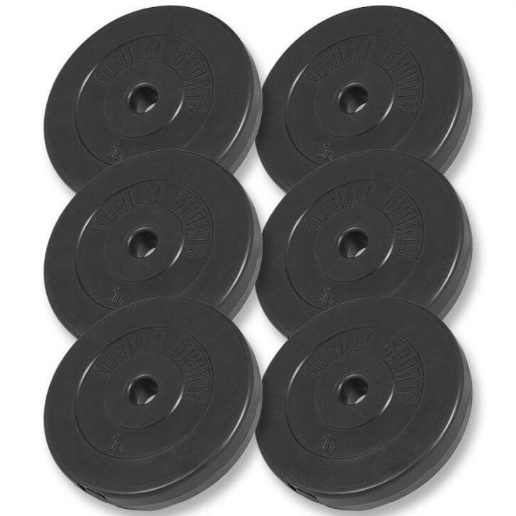 Hantelscheiben Kunststoff 6x5 KG - Gorilla Sports'