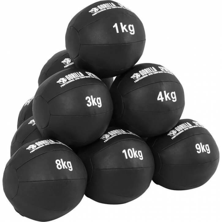 Kunstleder Medizinball 1-10 KG - Gorilla Sports