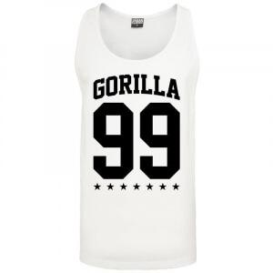 Gorilla 99 Loose Star Tank white XL - Gorilla Sports