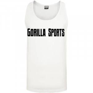 Gorilla Sports Loose Tank white S - Gorilla Sports