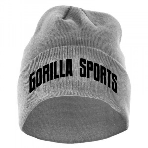 Gorilla Sports Beanie in verschiedenen Farben grey - Gorilla Sports