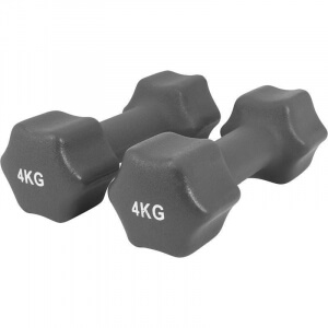 Neopren Gymnastikhanteln 8 KG (2x4 KG) - Gorilla Sports
