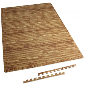 Schutzmattenset 6 Matten + 12 Endstücke Holzoptik